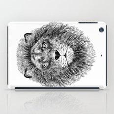 Black+White Lion iPad Case