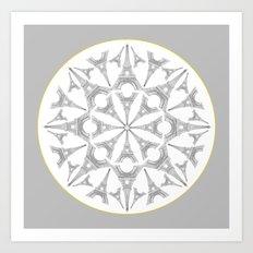 Paris in a Kaleidoscope Art Print