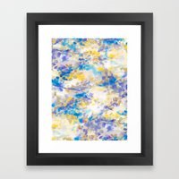 Canopy Blue Framed Art Print