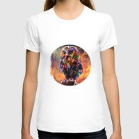 Brave Little Owl Womens Fitted Tee White SMALL