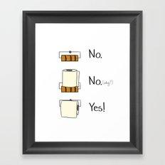 Bathroom Rules Framed Art Print