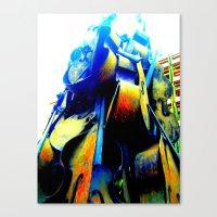 Technicolor Cellos  Canvas Print