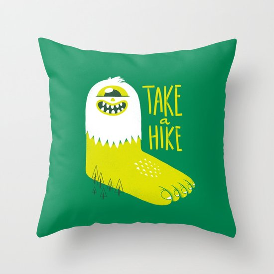 Advice Bigfoot Throw Pillow by Morkki Society6