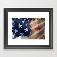 American Girl Framed Art Print