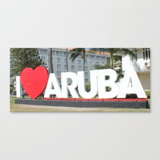 I Love Aruba - One Happy… Canvas Print