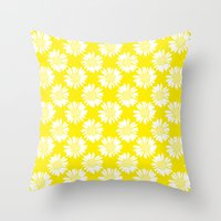 Yellow Flowers Throw Pillow