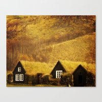 Turf Houses of Iceland Canvas Print