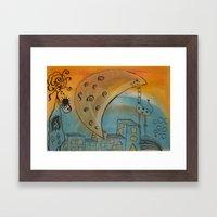 before the sunrise Framed Art Print