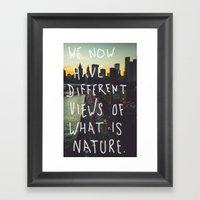 Different Views Framed Art Print