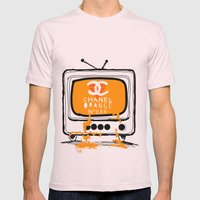 Chanel Orange Mens Fitted Tee Light Pink SMALL