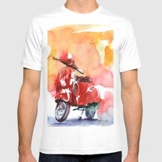 Scooter Mens Fitted Tee White SMALL
