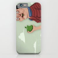 iPhone & iPod Case featuring An apple a day by Crooked Octopus