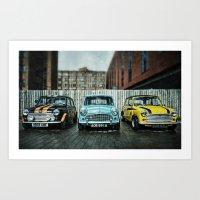 3 Minis Art Print