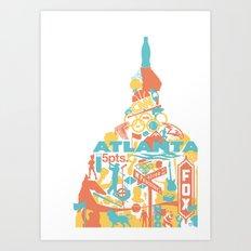 Atlanta, GA Art Print