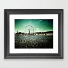 Paris Wheel II Framed Art Print