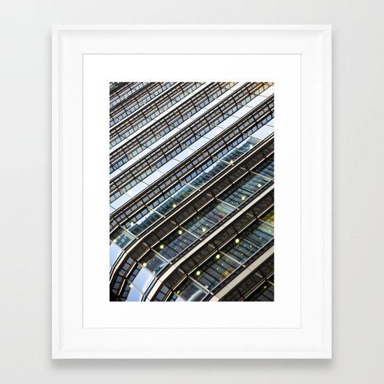 Canary Wharf  Abstract Framed Art Print