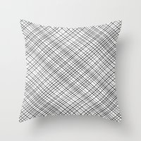 Weave 45 Black and White Throw Pillow