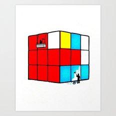Rubics cube Art Print