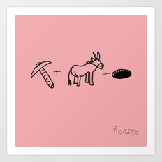 Artist Series: Picasso Rose Period Art Print