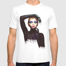The Girl 3 SMALL Mens Fitted Tee White