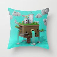 Colorful Island Throw Pillow
