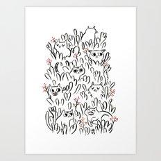Kitty Forest Art Print
