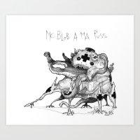 Mc Blob A Ma Puss Art Print
