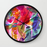 abstract bouquet Wall Clock