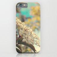 White flowers on blue sky (Retro flower photography) iPhone 6 Slim Case