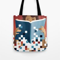 Print to Pixels Tote Bag