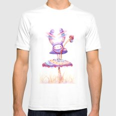 In The Land Of Magic Mushrooms Mens Fitted Tee White SMALL