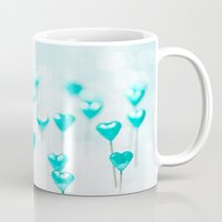 Turquoise Hearts Mug