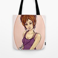 Girl With The Silver Loc… Tote Bag