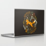Laptop & iPad Skin featuring Fox Tales by Anna Deegan
