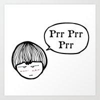 Prrrr Art Print