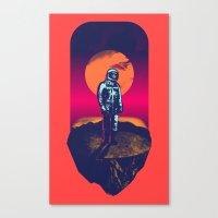 Awakening In A Strange L… Canvas Print