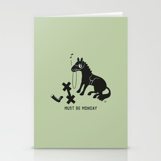 Must Be Monday, Horse Stationery Card