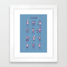 Psychology of headwear Framed Art Print