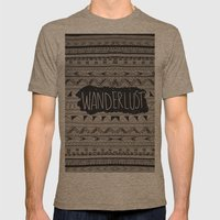 WANDERLUST Mens Fitted Tee Tri-Coffee SMALL