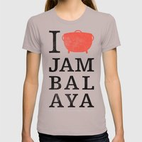 I Heart Jambalaya Womens Fitted Tee Cinder SMALL