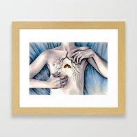 Between Two Lungs Framed Art Print