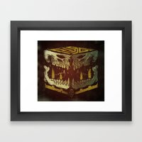 Bone Slag Framed Art Print