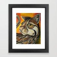 Ocelotta Paint Framed Art Print