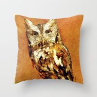 How Now Brown Owl Throw Pillow