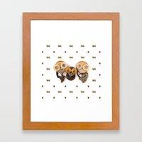 Rad's Owlets Framed Art Print