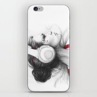 I Love Music | Girl In H… iPhone & iPod Skin