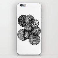 Sharpie Circles iPhone & iPod Skin