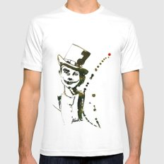 CLOWN White SMALL Mens Fitted Tee