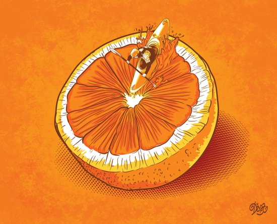 Rapid Orange Art Print