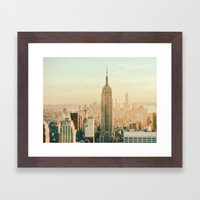 New York City Skyline Dreams Framed Art Print